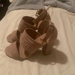 Nude Wrapped Heels
